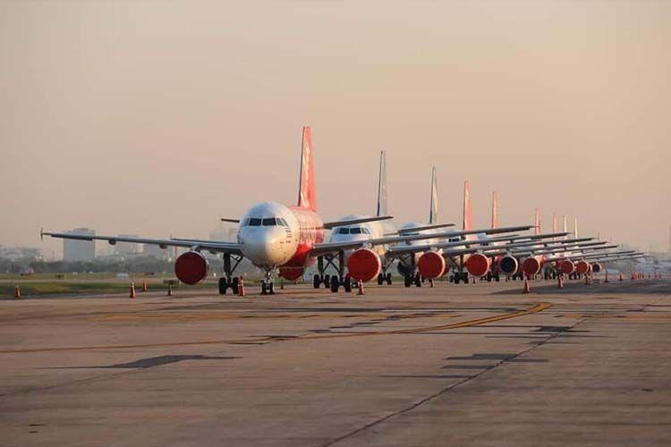 """""""แอร์เอเชีย"""" ดูแลฝูงบิน 282 ลำ อย่างปลอดภัย พร้อมกลับมาบริการอีกครั้ง"""
